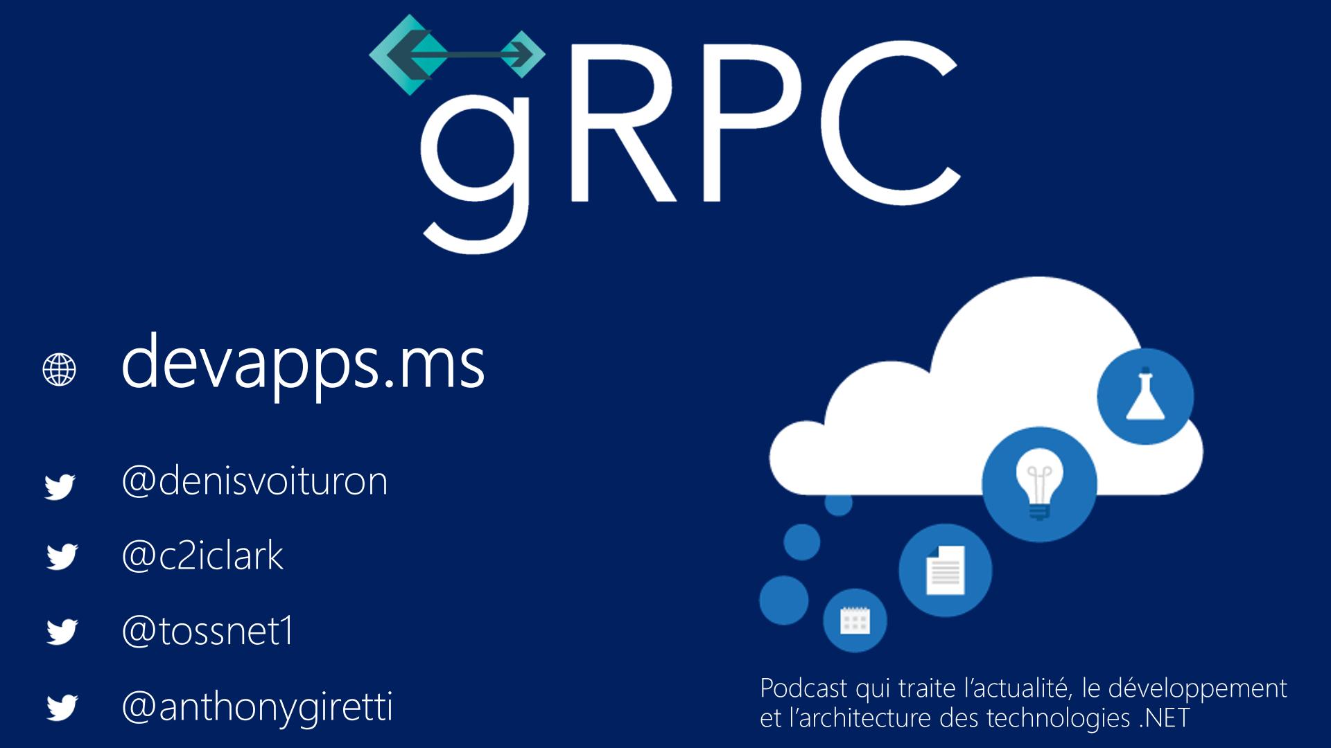 #68 La spécification gRPC