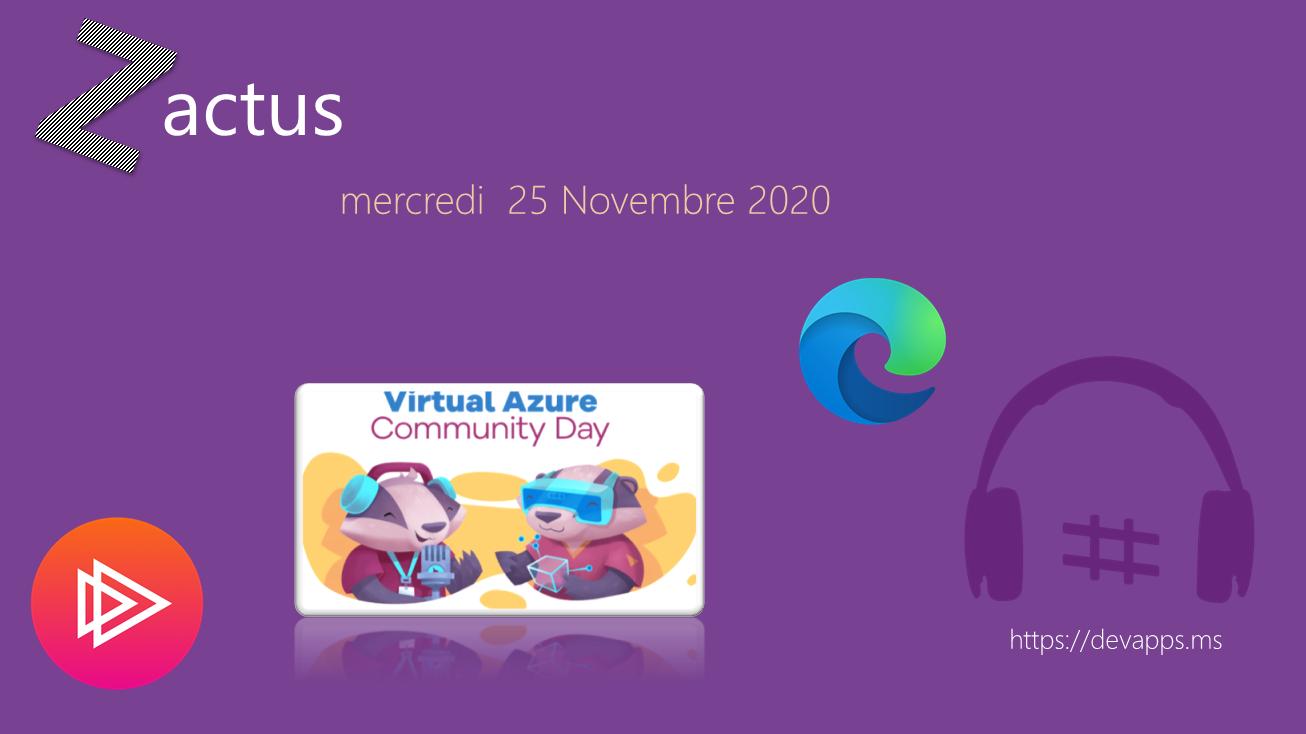 Les Zactus du 25 Novembre 2020
