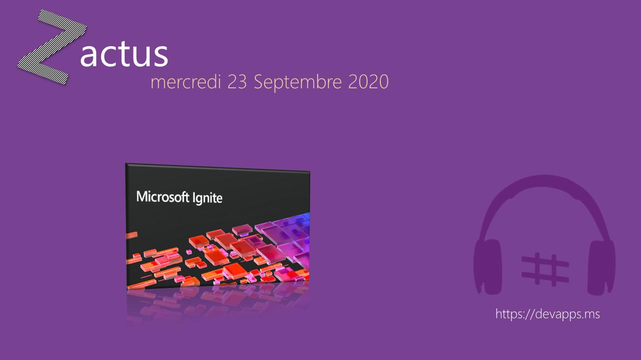 Les Zactus du 23 Septembre 2020